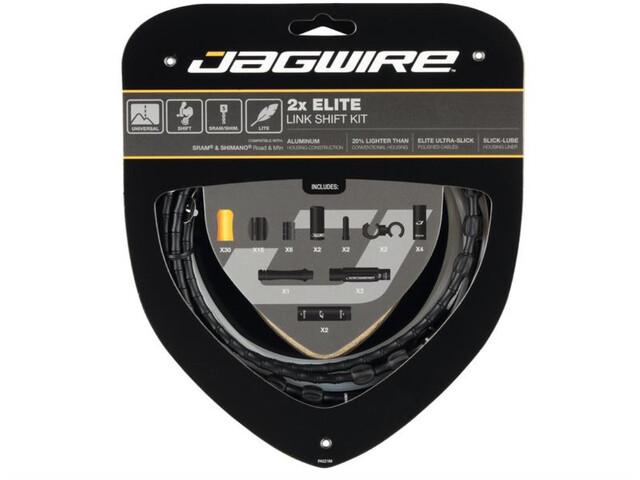 Jagwire 2X Elite Link Set de câble de dérailleur, black